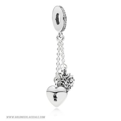 Jewelry Promo Lock And Heart Chained Hanging Charm