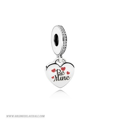 Jewelry Promo Be Mine Pendant Charm Burgundy Black Enamel