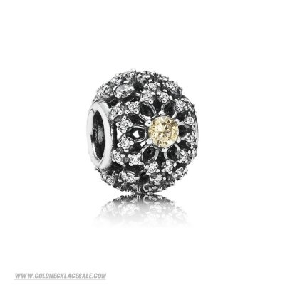 Jewelry Promo Pandora Inspirational Charms Inner Radiance Golden Colored Clear Cz