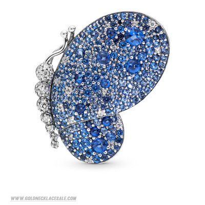 Jewelry Promo Dazzling Blue Butterfly Brooch