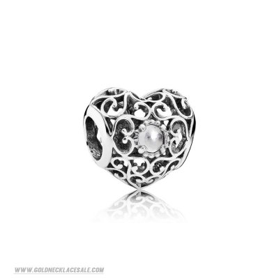 Jewelry Promo Pandora Birthday Charms April Signature Heart Charm Rock Crystal