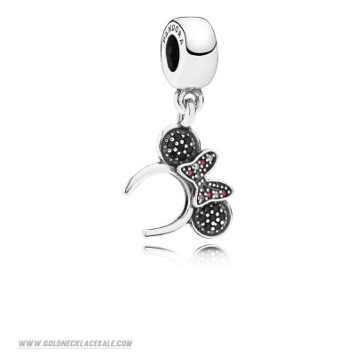 Jewelry Promo Pandora Disney Charms Minnie Headband Pendant Charm Black Red Cz