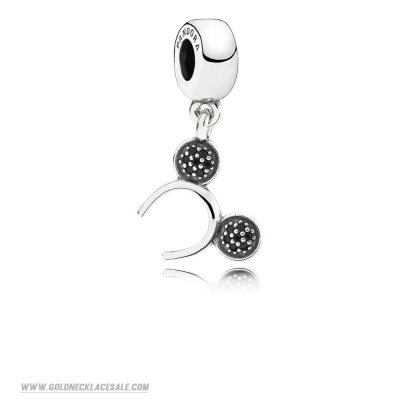 Jewelry Promo Pandora Disney Charms Mickey Headband Pendant Charm Black Cz
