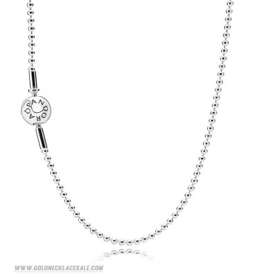 Jewelry Promo Essence Collection Beaded Silver Necklace