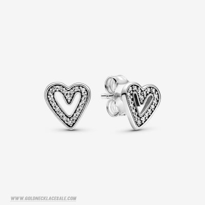 Jewelry Promo Sparkling Hearts Sketch Earrings Studs