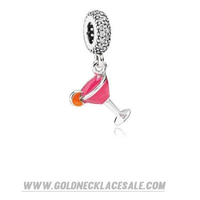 Jewelry Promo Pandora Passions Charms Chic Glamour Fruity Cocktail Pendant Charm Mixed Enamel Clear Cz