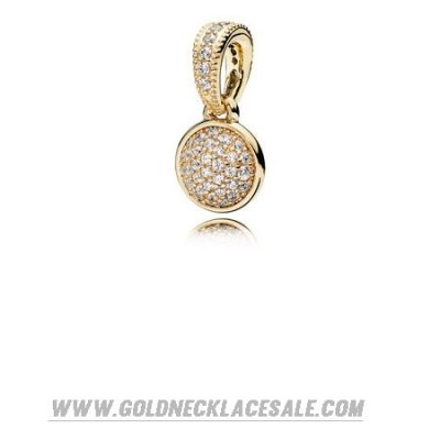Jewelry Promo Pandora Collections Dazzling Droplet Pendant 14K Gold Clear Cz