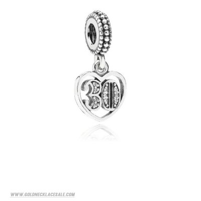Jewelry Promo Pandora Birthday Charms 30 Years Of Love Pendant Charm Clear Cz