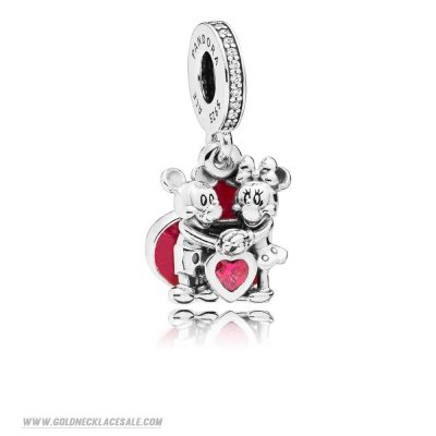 Jewelry Promo Disney Mickey And Minnie With Love Hanging Charm
