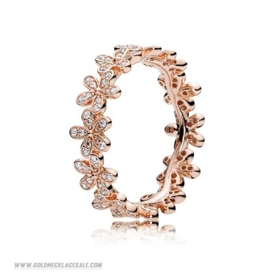 Jewelry Promo Pandora Rings Dazzling Daisy Ring Pandora Rose Clear Cz