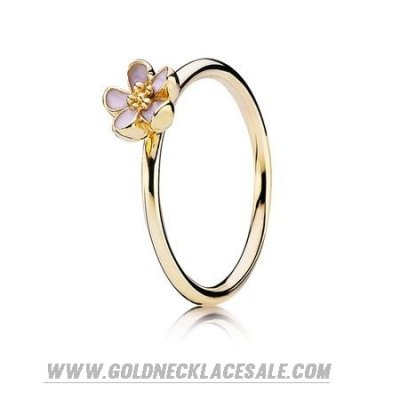 Jewelry Promo Pandora Rings Cherry Blossom Stackable Ring Pink 14K Gold