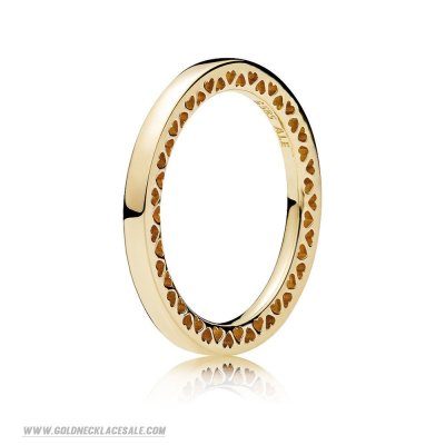 Jewelry Promo Pandora Rings Classic Hearts Of Pandora Ring 14K Gold