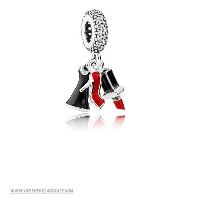 Jewelry Promo Pandora Passions Charms Chic Glamour Glamour Trio Pendant Charm Mixed Enamel Clear Cz