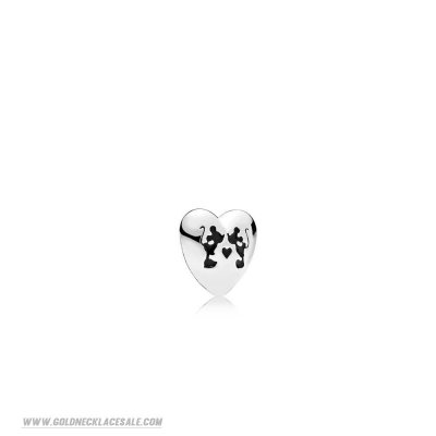Jewelry Promo Pandora Disney Charms Mickey Minnie Kiss Petite Charm Black Enamel