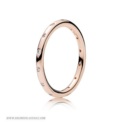 Jewelry Promo Pandora Rings Droplets Ring Pandora Rose Clear Cz