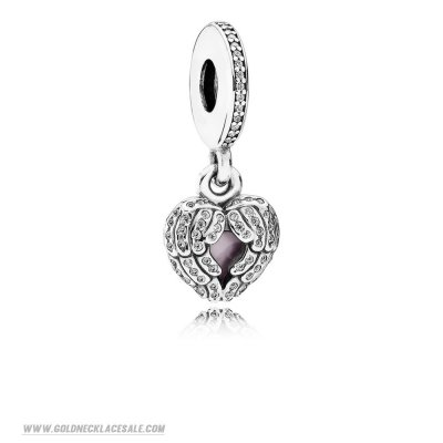 Jewelry Promo Pandora Inspirational Charms Angel Wings Pendant Charm Clear Cz Pink Enamel