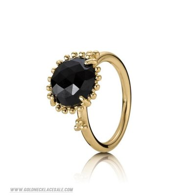 Jewelry Promo Pandora Rings Shining Star Ring Black Spinel