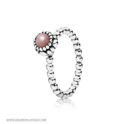Jewelry Promo Pandora Rings Birthday Blooms Ring October Pink Opal