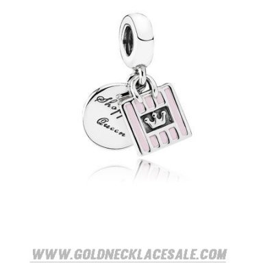 Jewelry Promo Pandora Passions Charms Chic Glamour Shopping Queen Pendant Charm Soft Pink Enamel