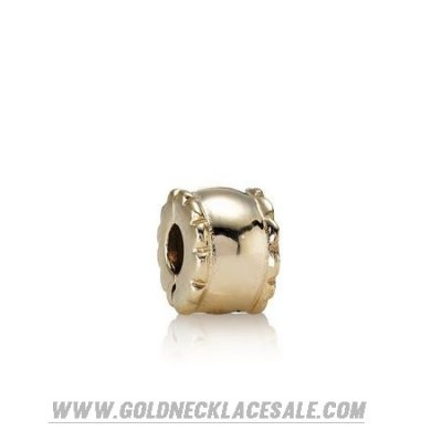 Jewelry Promo Pandora Collections Beveled Clip 14K Gold