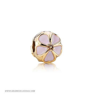 Jewelry Promo Pandora Collections Cherry Blossom Clip Charm Pink Enamel 14K Gold