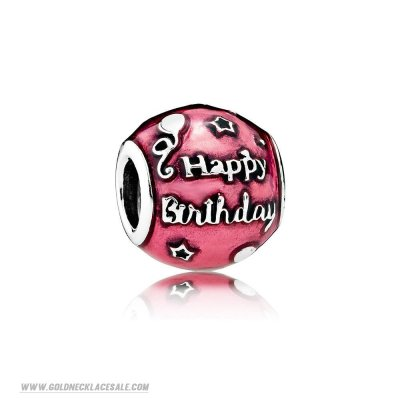 Jewelry Promo Pandora Birthday Charms Birthday Celebration Charm Transparent Cerise Enamel