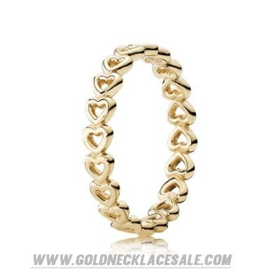 Jewelry Promo Pandora Rings Linked Love Ring 14K Yellow Gold