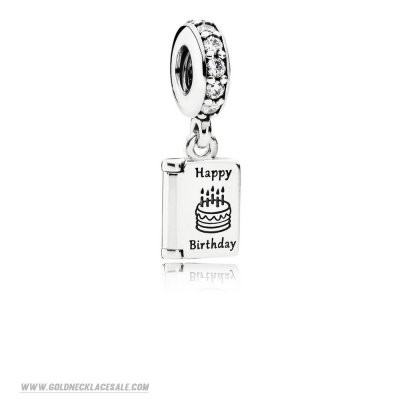 Jewelry Promo Pandora Birthday Charms Birthday Wishes Pendant Charm Clear Cz