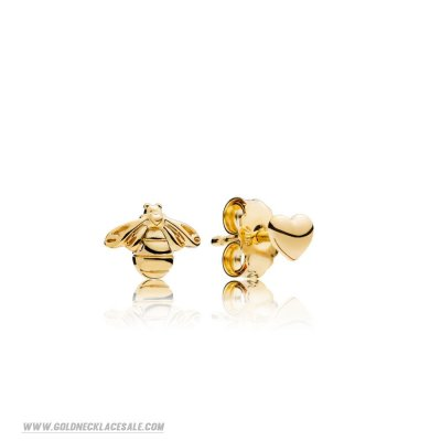 Jewelry Promo Bee And Heart Earring Studs