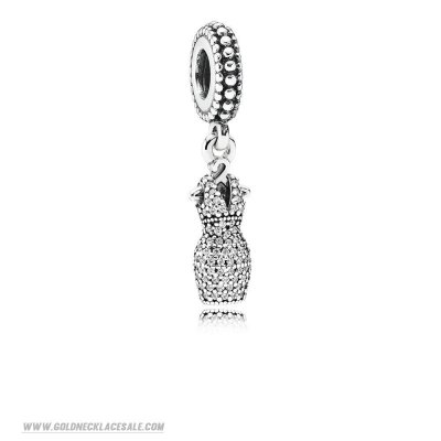 Jewelry Promo Pandora Passions Charms Chic Glamour Dazzling Dress Pendant Charm Clear Cz