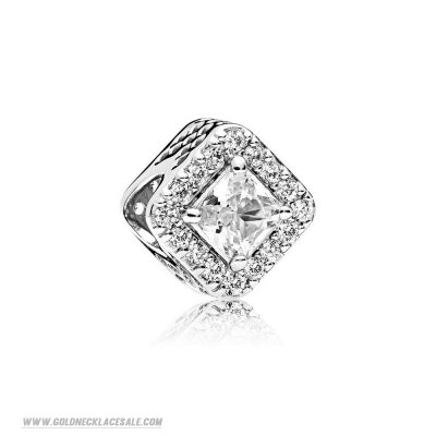 Jewelry Promo Pandora Passions Charms Chic Glamour Geometric Radiance Charm Clear Cz