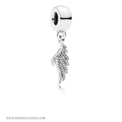 Jewelry Promo Pandora Inspirational Charms Majestic Feather Pendant Charm Clear Cz