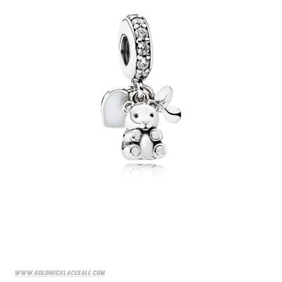 Jewelry Promo Pandora Family Charms Baby Treasures Pendant Charm Clear Cz