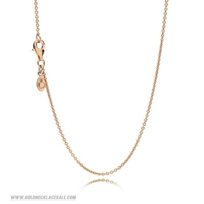 Jewelry Promo Pandora Chains Necklace Chain Sterling Silver 14K Rose Gold