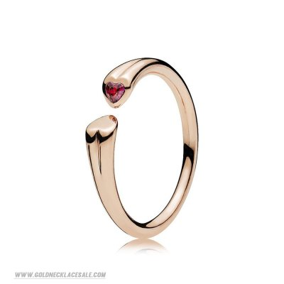 Jewelry Promo Two Hearts Ring Pandora Rose Red