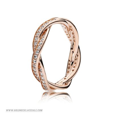 Jewelry Promo Pandora Rings Twist Of Fate Ring Pandora Rose Clear Cz