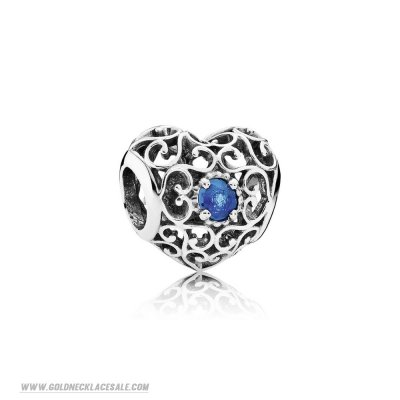 Jewelry Promo Pandora Birthday Charms December Signature Heart Charm London Blue Crystal