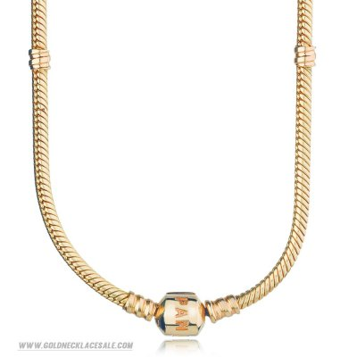 Jewelry Promo Pandora Chains 14K Gold Charm Necklace