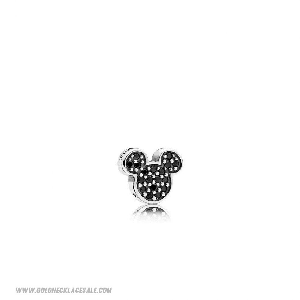 Jewelry Promo Pandora Disney Charms Sparkling Mickey Icon Petite Charm Black Crystal