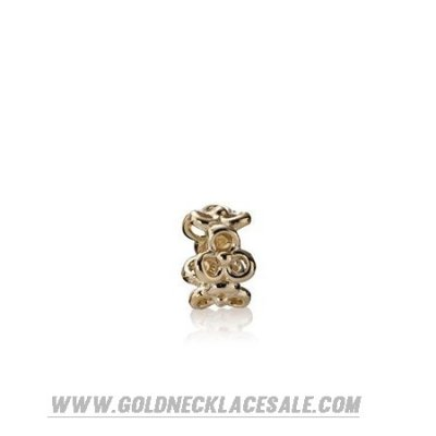 Jewelry Promo Pandora Spacers Charms Trinity Flowers Spacer 14K Gold