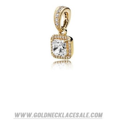 Jewelry Promo Pandora Collections Timeless Elegance Pendant 14K Gold Clear Cz