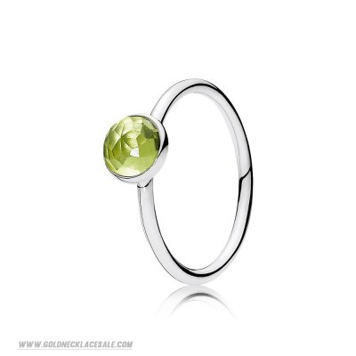 Jewelry Promo Pandora Rings August Droplet Ring Peridot