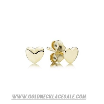 Jewelry Promo Pandora Collections Petite Heart Stud Earrings 14K Gold