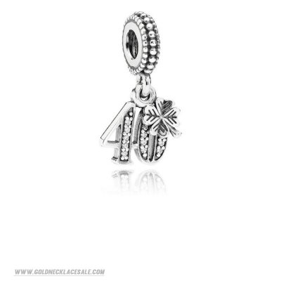 Jewelry Promo Pandora Birthday Charms 40 Years Of Love Pendant Charm Clear Cz