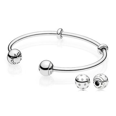 Jewelry Promo Moments Open Bangle End Caps Gift Set