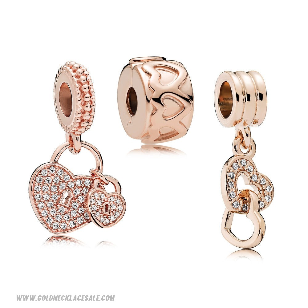 Jewelry Promo Pandora Rose Hanging Hearts Charm Pack