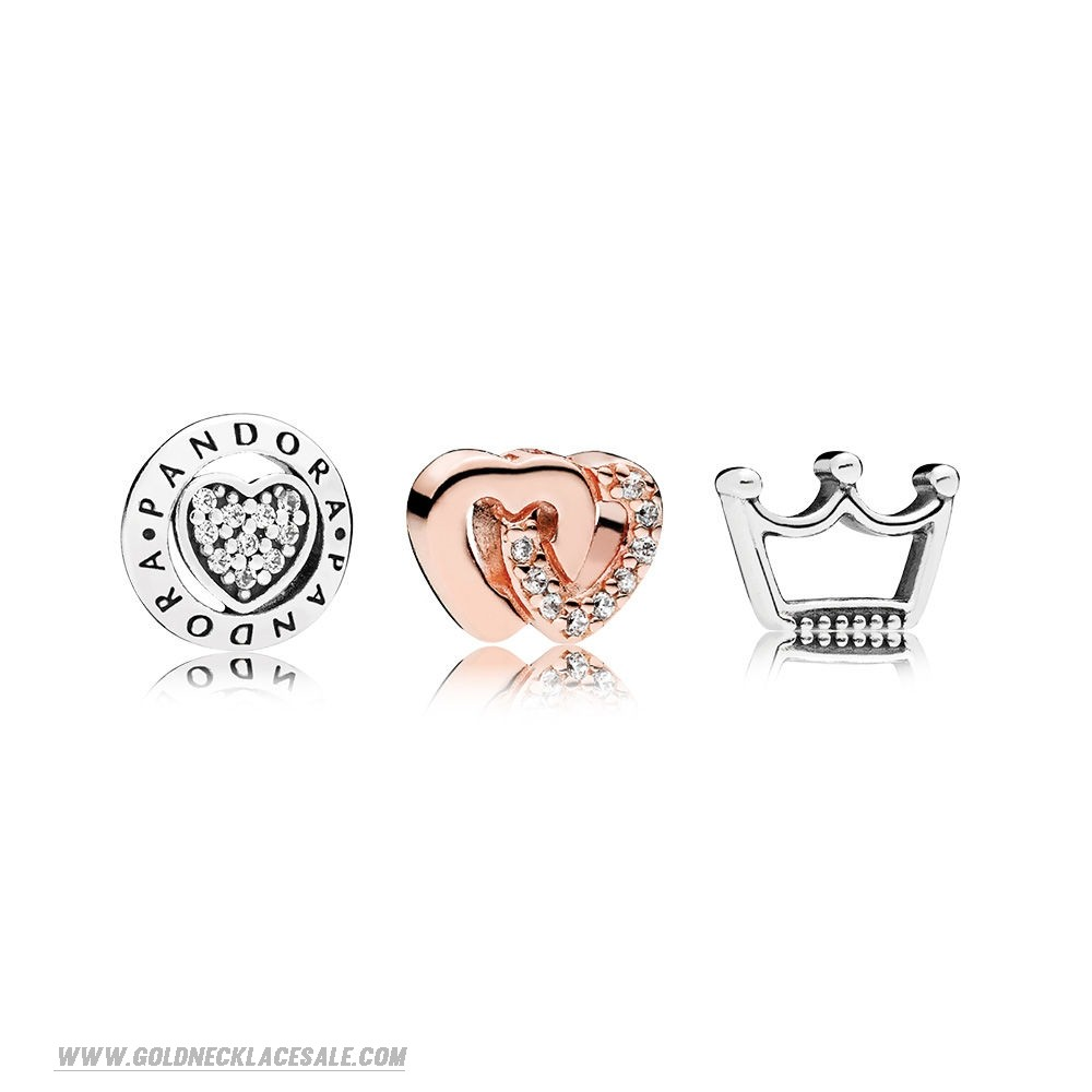 Jewelry Promo Pandora Rose Hearts And Crowns Petite Charm Pack