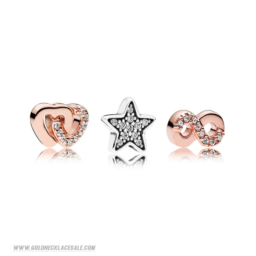 Jewelry Promo Pandora Rose Hearts And Stars Petite Charm Pack