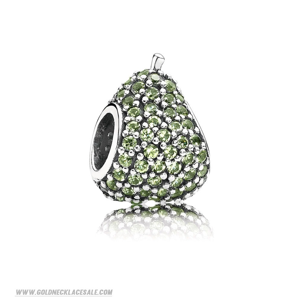 Jewelry Promo Green Pave Pear Charm