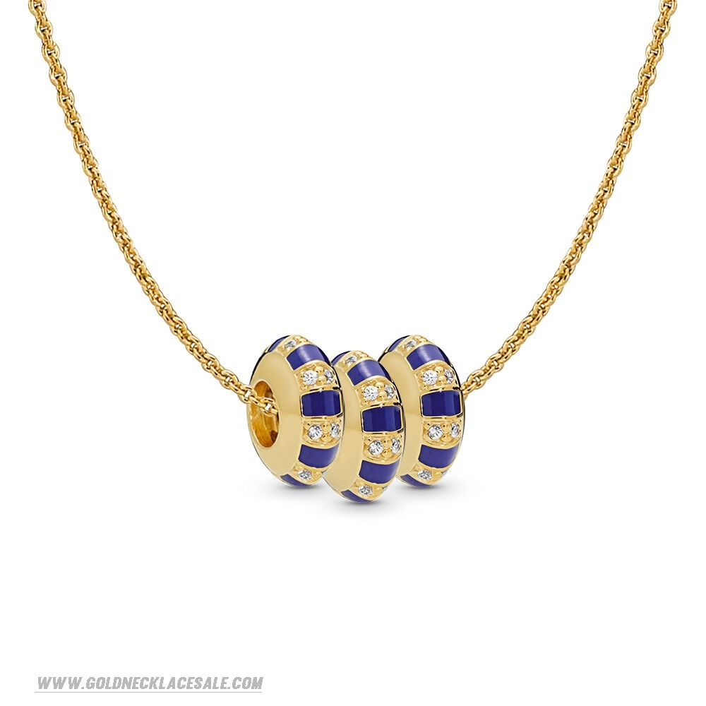 Jewelry Promo Pandora Shine Stones And Stripes Spacer Necklace